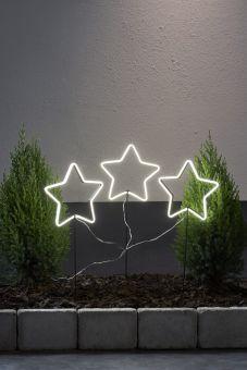 NeonStar Utomhusdekoration x3 vit