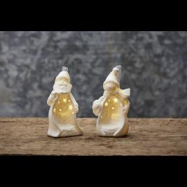 Star Trading Dekorationsfigur Vinter tomte & snögubbe LED 9cm