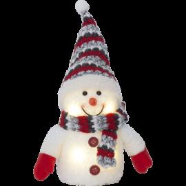 Star Trading Dekorationsfigur Joylight snögubbe röd LED 25cm