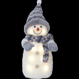 Star Trading Dekorationsfigur Joylight snögubbe grå LED 38cm