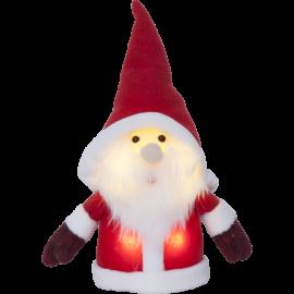 Star Trading Dekorationsfigur Joylight tomte röd LED 24cm