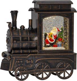 Vinter Inomusdekoration tåg 17cm