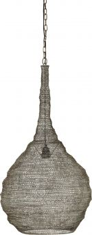 Kimberly taklampa svart 50cm antiksilver