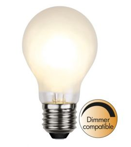 Dimbar LED-lampa E27 Frosted 4W/35W