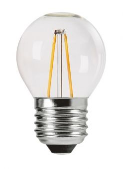 LED-lampa shine filament dimbar E27 2700K 4,5cm 2,8W