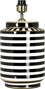 Gatsby Lampfot svart/vit 43cm