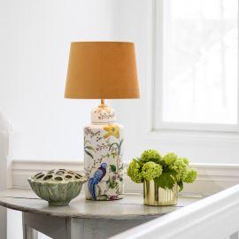 PR Home Li Na Lampfot i porslin vit/mönstrad 46cm