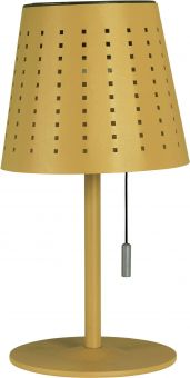 Halvar Solcellslampa USB gul PR Home
