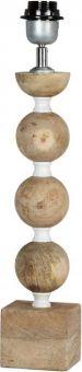 Derby Lampfot trä/vit 38cm