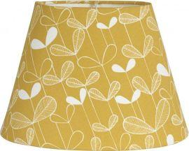 Oval Lampskärm Mönstrad Sapling gul 20cm