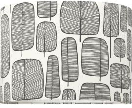 Takskärm Classic Cylinder Little Trees svart 35cm
