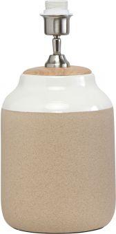 PR Home Lisbon Lampfot i keramik beige/vit 40cm