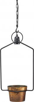 Upptown Fönsterlampa med kruka svart/koppar PR Home