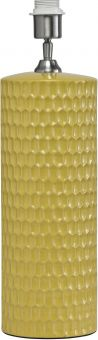 PR Home Honeycomb Lampfot i keramik gul 52cm