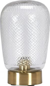 Juliette Bordslampa glas/mässing 29cm