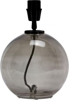 Jonna Lampfot rökfärgat glas 28cm
