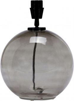 Jonna Lampfot rökfärgat glas 32cm