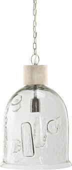 Skylar Taklampa trä/glas 28cm