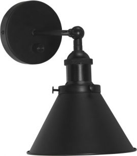 Vägglampa Anton svart 18cm