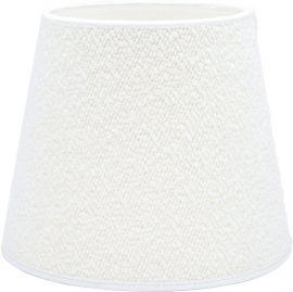 Mia Lampskärm Bouclette Blanc 17cm