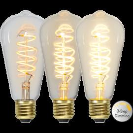 LED lampa E27 Decoled Edison spiral 3-steg dimbar