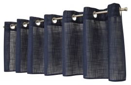 Arvidssons Textil Norrsken öljettkappa 55x240cm blå