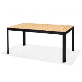 Portals Dark matbord 161x95cm Aluminium/Teak