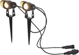 Utomhusspotlight System 24 svart 2-pack Star Trading