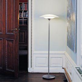 Baroni golvlampa stål/vit 130cm Halo Design