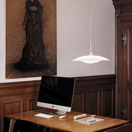 Baroni taklampa glas/aluminium 46cm Halo Design