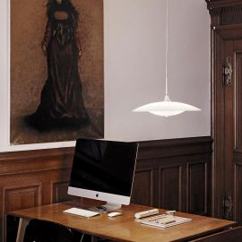 Baroni taklampa glas/aluminium 35cm Halo Design
