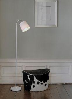 Stand By golvlampa 1 vit/krom 140cm Halo Design