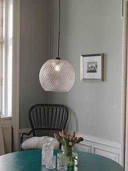 Nobb Ball glastaklampa rök 22cm Halo Design