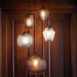 Nobb Edgy glastaklampa rök 17cm Halo Design