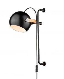 Halo Design DC Vägglampa Ø18cm ek/svart