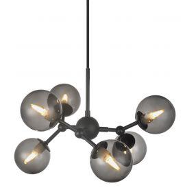 Halo Design Atom Taklampa svart/rökfärgad 45cm
