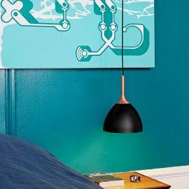 Bellevue taklampa koppar/svart 24cm Halo Design