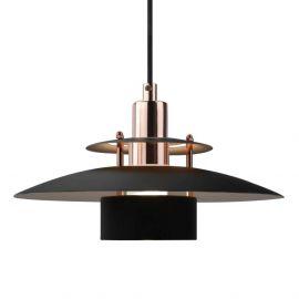 Halo Design taklampa i svart och koppar