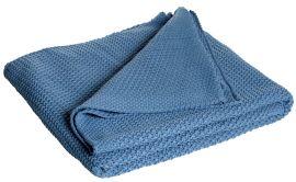 Mogihome pläd Moltas 130x170cm blå