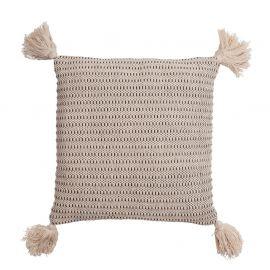 Kuddfodral Tora beige/svart 45x45cm