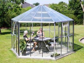 Växthus Vitavia Hera alu glas diameter 3,8m / 9m²