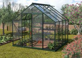 Växthus Vitavia Merkur grön/glas 2,6x2,6m / 6,7m²