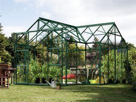 Växthus Vitavia Sirius grön 13m² inkl sockel