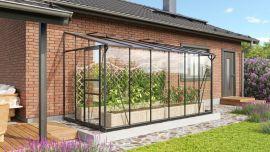 Växthus Vitavia Ida svart/glas/poly 3,9x2m / 7,8m²