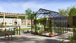 Växthus Vitavia Diana svart/glas 2,6x3,8m / 9,9m²