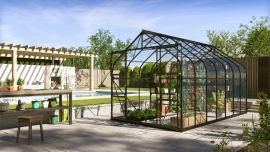 Växthus Vitavia Diana svart/glas 2,6x4,5m / 11,5m²