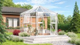 Växthus Vitavia Hera vit glas diameter 3,8m / 9m²