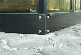 Stålsockel till Vitavias växthus (3,8m²) svart 125mm