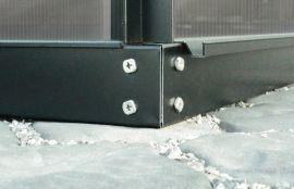 Stålsockel till Vitavias växthus (7,8m²) svart 60mm