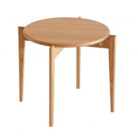 Oscarssons Möbel Tilia soffbord runt 51cm h41 oljad ek